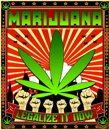 MARIJUANA PROPAGANDA ART by GUS314159265