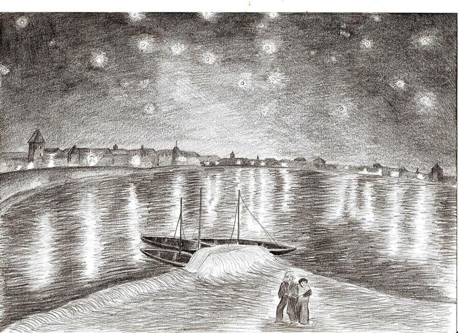 Starry Night Over the Rhone by jaceksawicki666 on DeviantArt