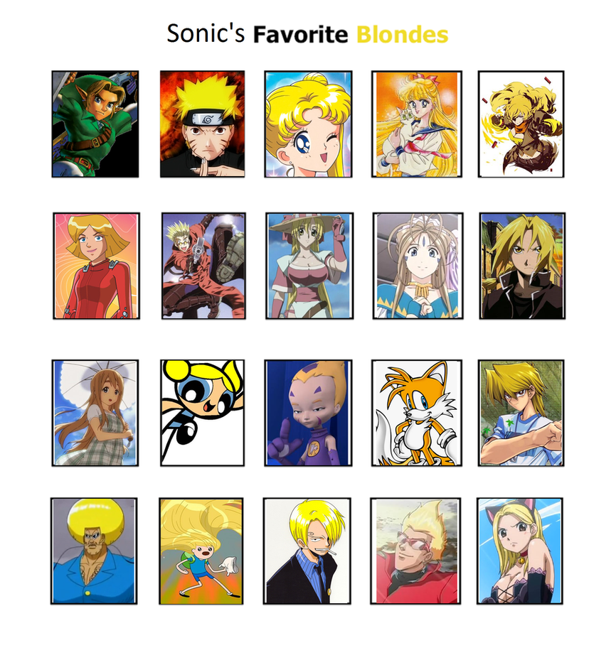 Sonic's Favorite blondes by GokuandSonic707