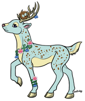 Arcal Deer Adopt by Cosmic-Wallaby