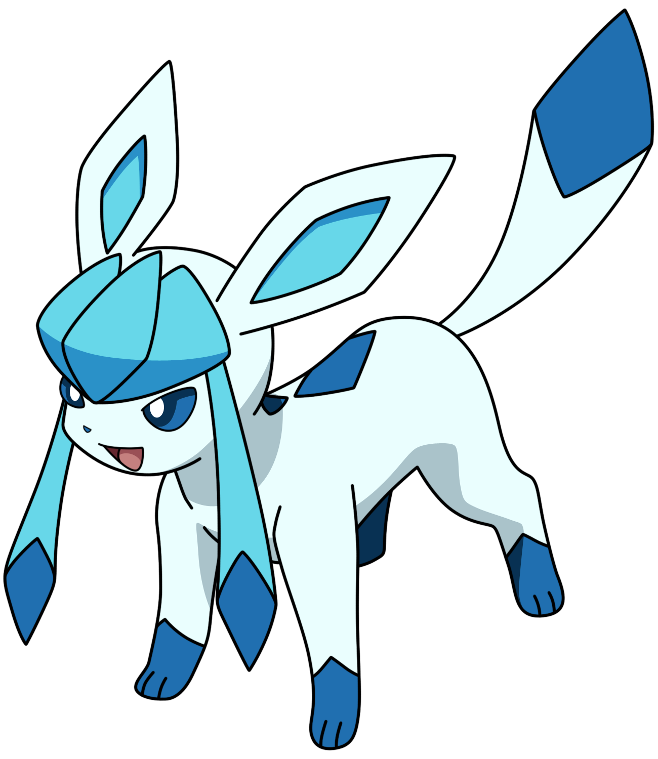 Glaceon - Shiny by Kizarin
