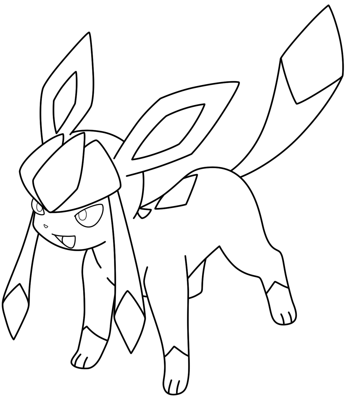 lineart glaceon by kizarin on deviantart