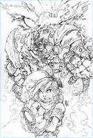 Battle chasers Pencils