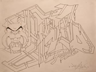 KCAD Graffiti by BlkManBradley