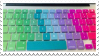 Stamp - Rainbow Keys by ArandomVelociraptor