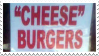 Stamp - 'Cheese' Burgers by ArandomVelociraptor
