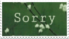 Stamp - Sorry by ArandomVelociraptor