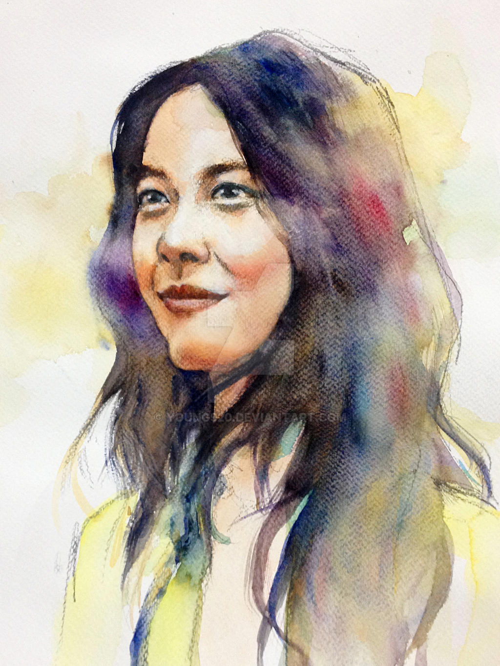 Watercolor portrait of tang wei by young920