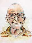Watercolor portrait of Old Man