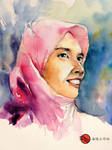 Watercolor portrait of Nurul izzah by young920