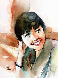 Watercolor Portrait of Teo Nie Ching by young920