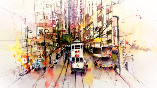 Street View in Hong Kong