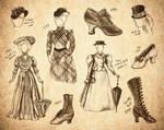 Steampunk Fashion Sketches