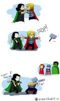 Avengers - STOP ! by Dulcamarra