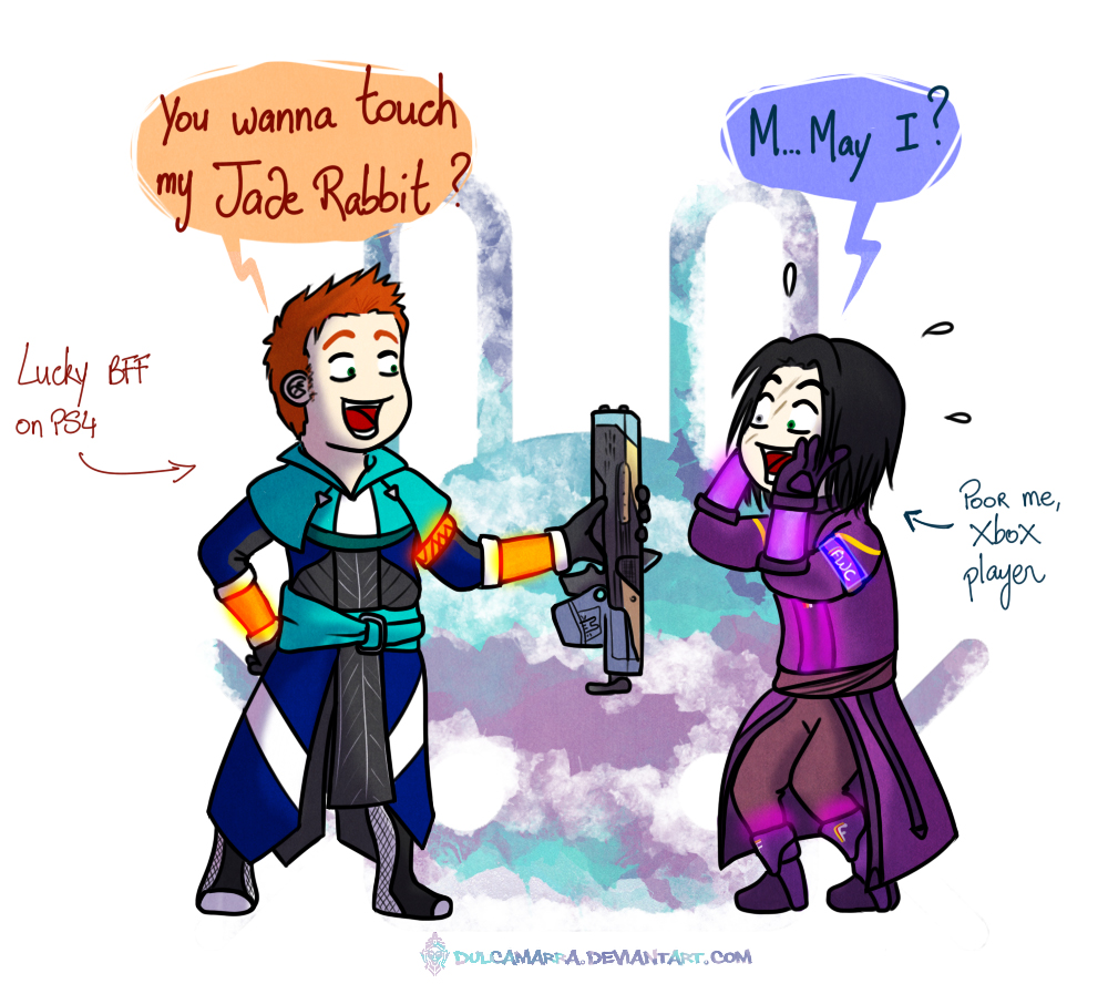Ouh you touch my Jade Rabbit by Dulcamarra