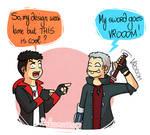 Dante vs Nero: short hair battle