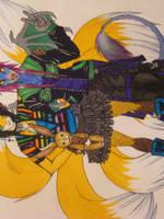 Kitsune and Gizmo by Iris-Briefs-giftart