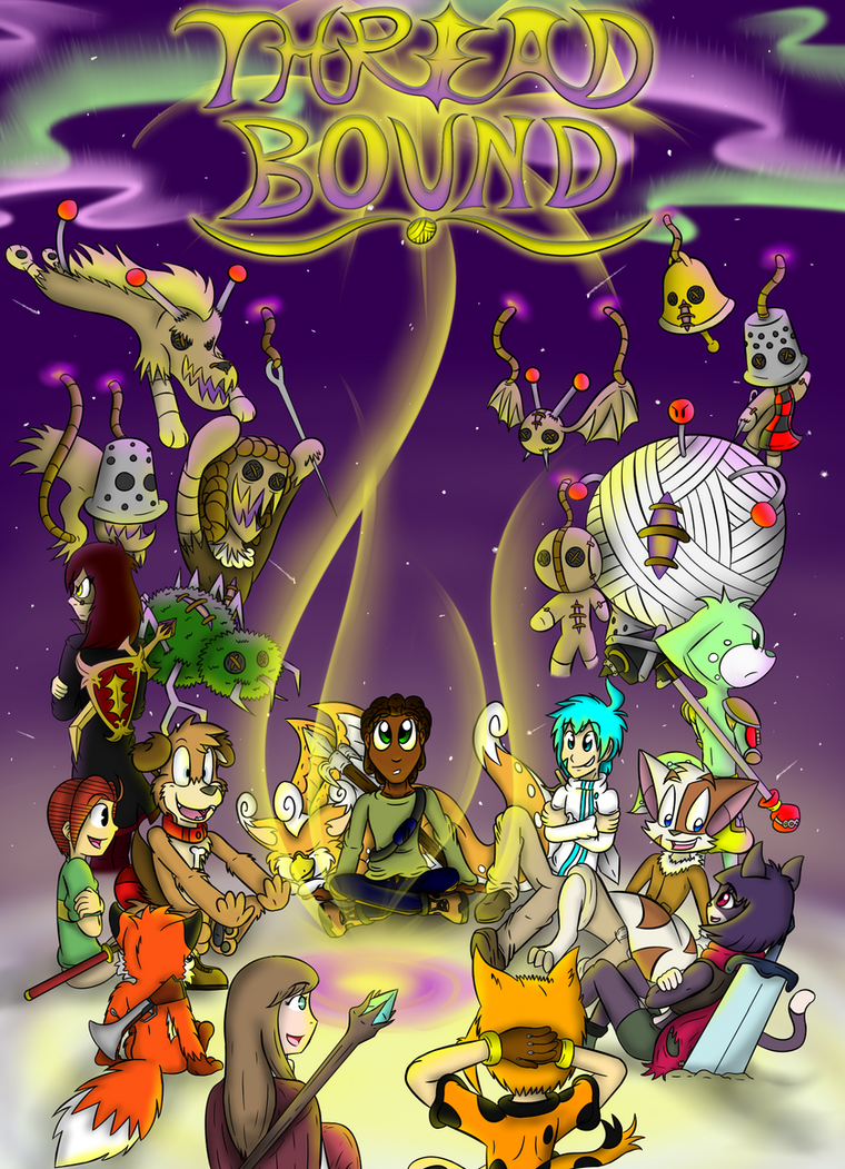 Thread Bound - NEW Official Cover Art/Title Screen by CHAOKOCartoons