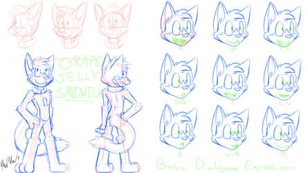 Grape Sandwich Animation Reference Sheet by CHAOKOCartoons
