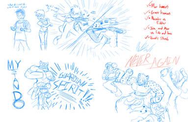 Fanimated Bonus Sketches 4-2-17
