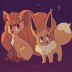 Vulpix and Eevee