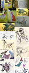 Tumblr Sketch Dump 17 by CorruptedFox