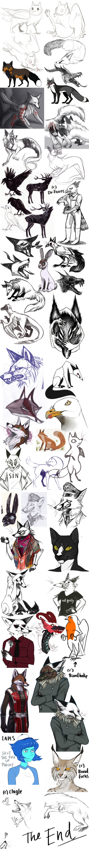 Tumblr Sketchdump 32 by CorruptedFox