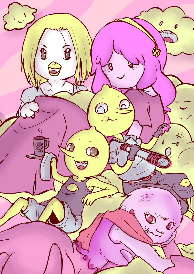 Cloudy with a chance of Bubblegum by LadyDeathAndPain