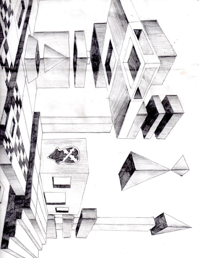 Three dimensional drawing by kitomi1991 on deviantart for 3 dimensional drawing software