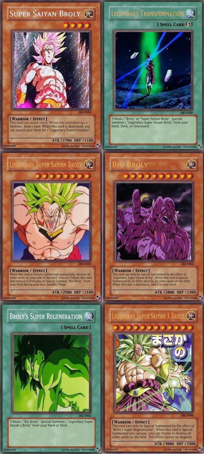 broly cards yu gi oh by hulktyssj2 on deviantart