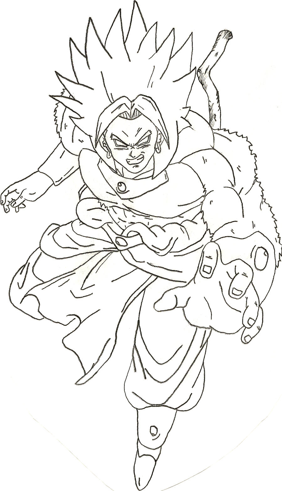 Lssj broly free coloring pages for Dragon ball z broly coloring pages