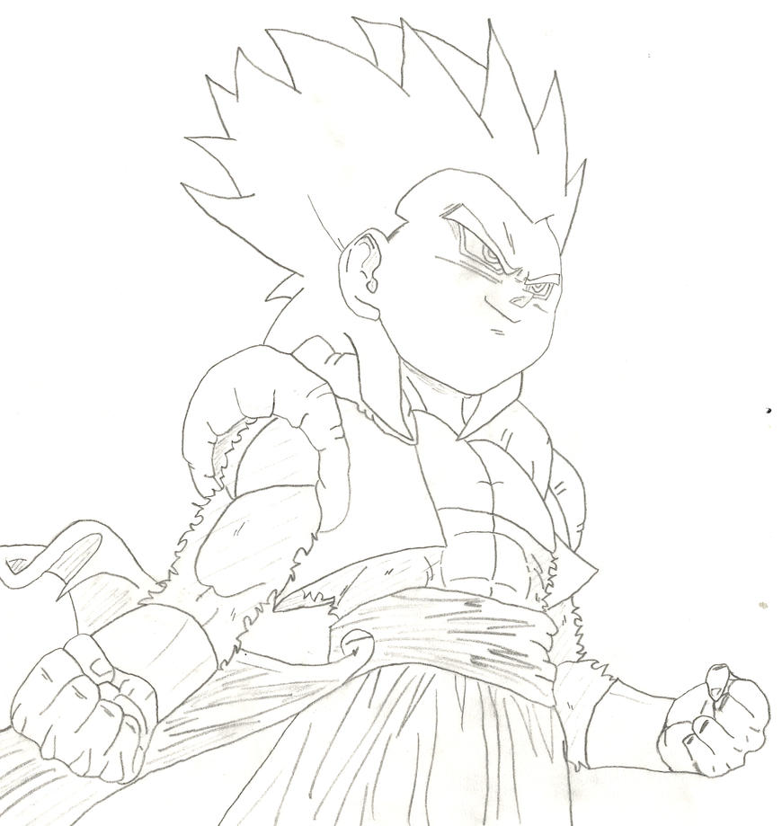 how to draw chibi goku ssj4