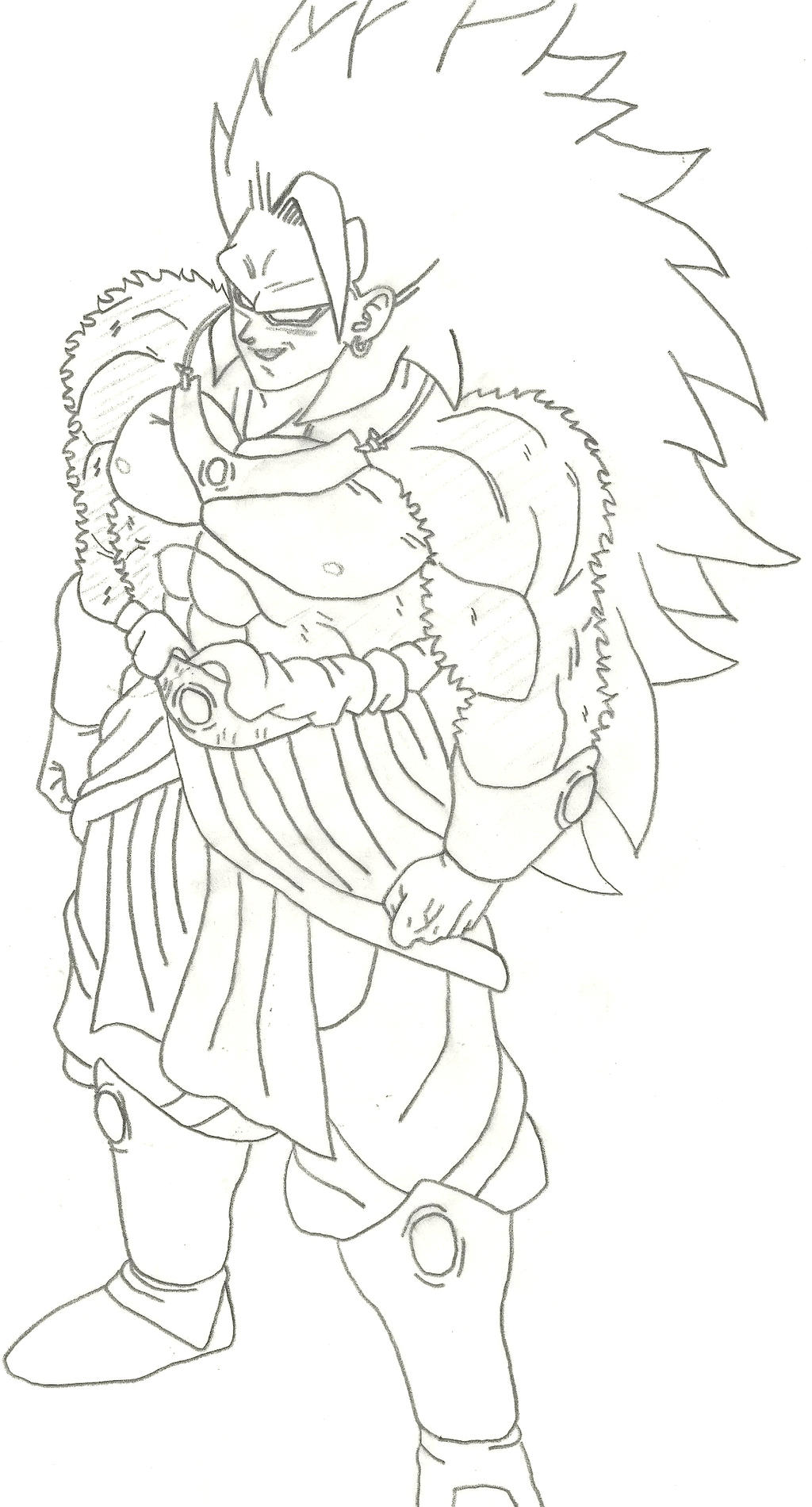 God broly free colouring pages for Dragon ball z broly coloring pages