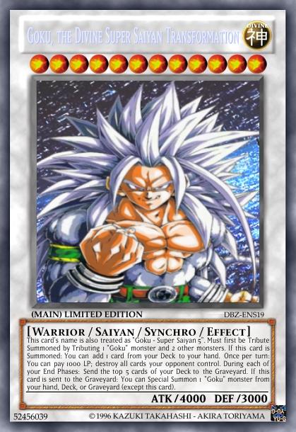 dbz yugioh card goku ssj5 by hulktyssj2 on deviantart
