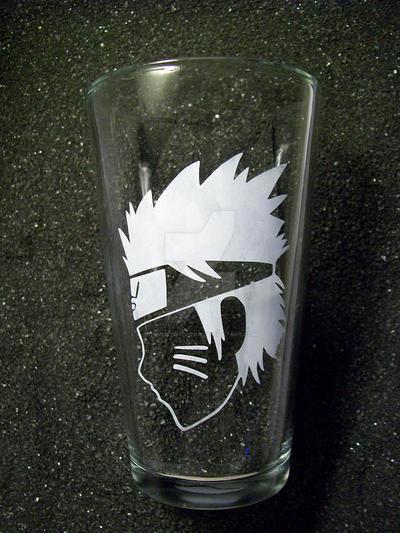 Naruto Uzumaki pint glass by coventrydecor