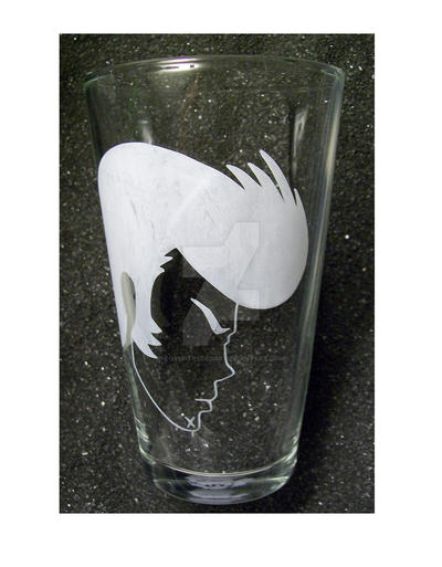 Space Dandy pint glass by coventrydecor