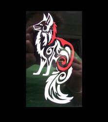 Tribal Okami fox decal