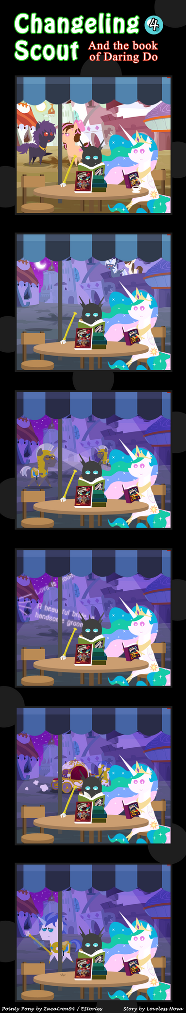 Changeling Scout And The Book Of Daring Do 04 by vavacung