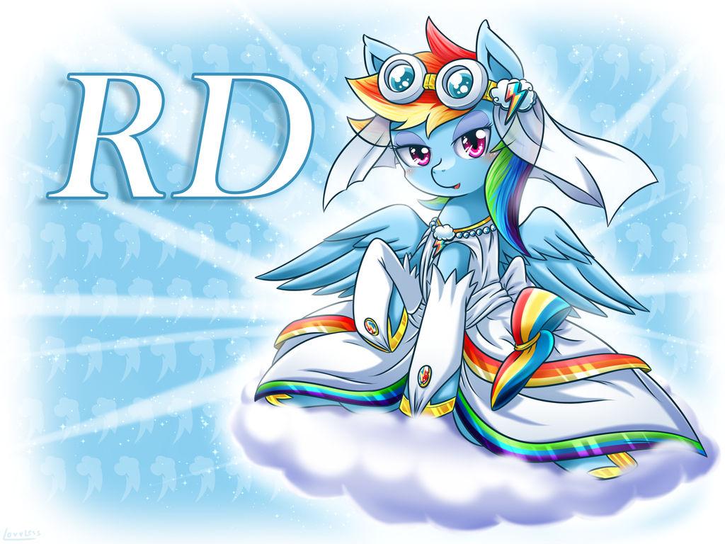 Rainbow Dash the bride