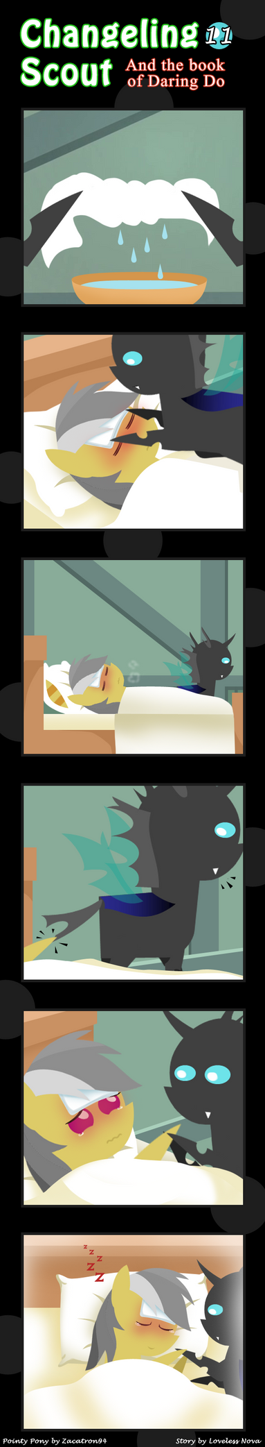 Changeling Scout And The Book Of Daring Do 11 by vavacung