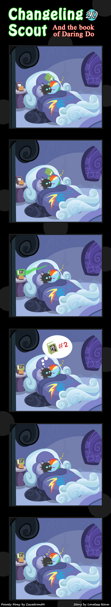 Changeling Scout And The Book Of Daring Do 20 by vavacung