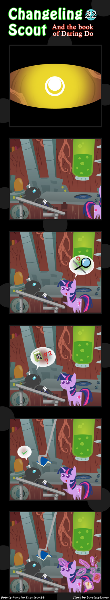 Changeling Scout And The Book Of Daring Do 22 by vavacung