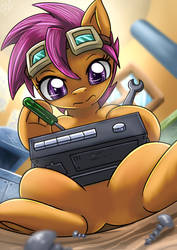 [TALOYQ Side Art] Scootaloo The Repairmare