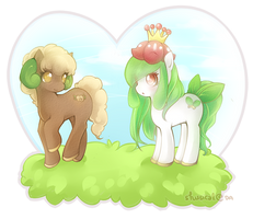 my little whimsicott, my little lilligant by shusical