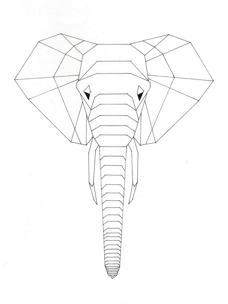 2D Origami Elephant By Lily Travis