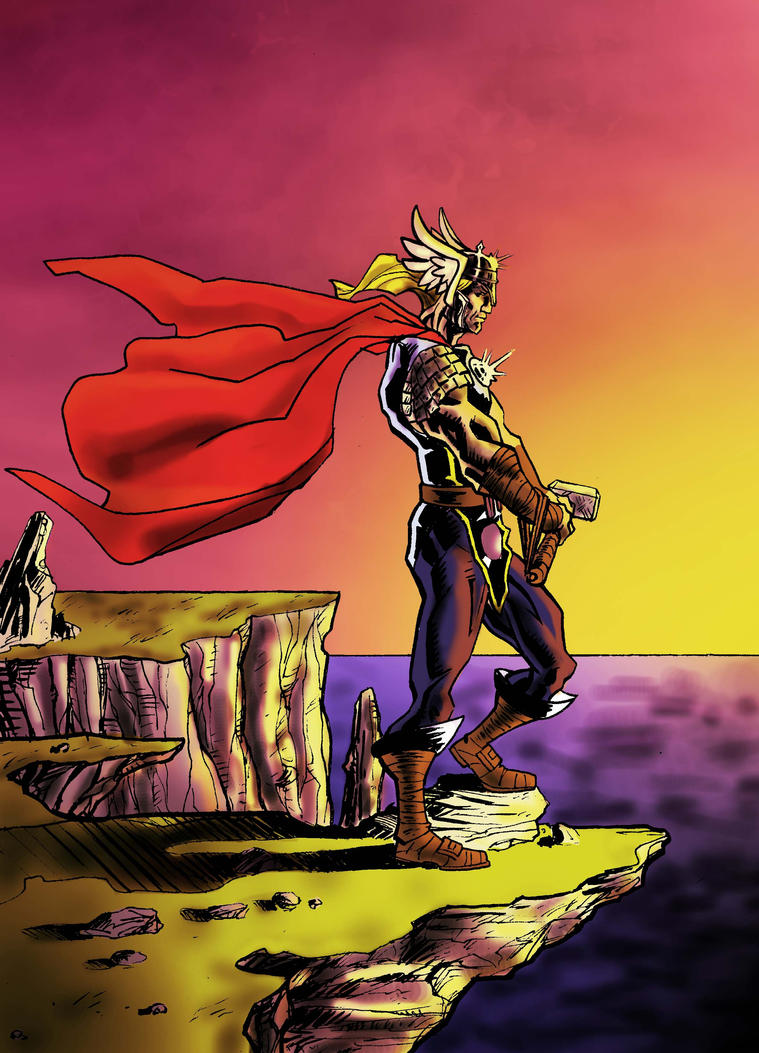 Thor Thursday 33 color by e-v4ne