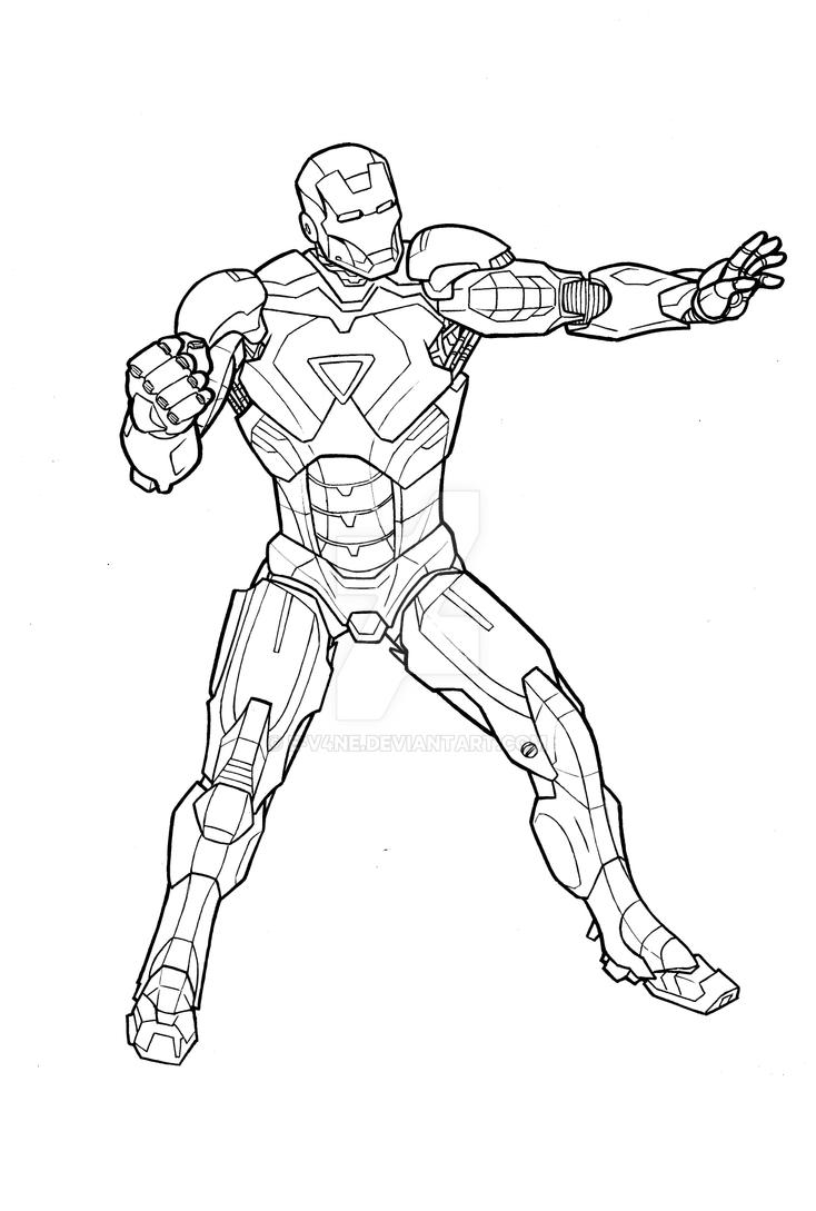 iron man mark vi by e v4ne - Iron Man Coloring Pages Mark