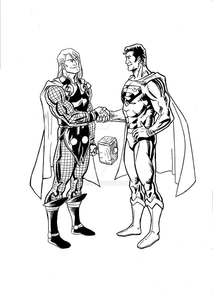 Thor Thursday-Superman Sunday by e-v4ne