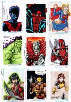 Convention Sketch cards by e-v4ne