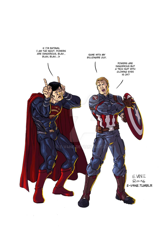 civil war x batman v superman 2 by e v4ne batman superman iron man 2